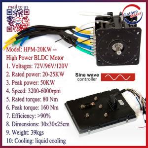 20kw DC sin escobillas de alta potencia del motor de CC para el coche eléctrico