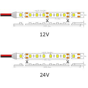 UL Ce2835 14.4W, 24V 2400K maakt IP65 het LEIDENE Licht van de Strook waterdicht