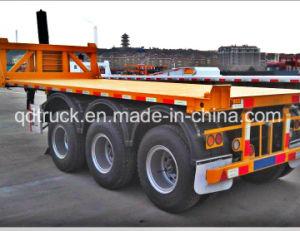 3 essieux de lourds remorque de camion à benne basculante/ 40FT Conteneur Conteneur Traile/ remorque basculante