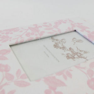 Album van de Foto van de goede Kwaliteit het Nieuwe Elegante BloemenStof Behandelde Houten