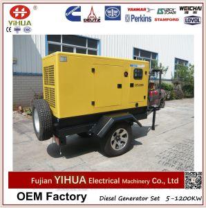 Generador móvil del acoplado, conjunto de generador diesel silencioso de las ruedas de 50kw/62.5kVA Weifang Tianhe dos