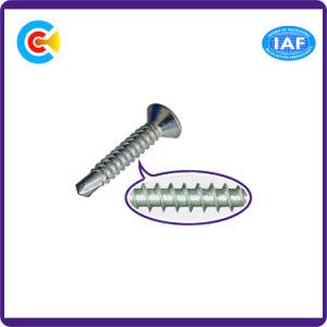 DIN и ANSI/BS/JIS Stainless-Steel Carbon-Steel/4.8/8.8/10,9 оцинкованный сверло поперечной головки заднего Саморез