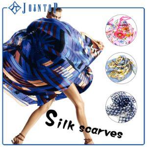 Scarf低いMOQカスタムプリント100%絹の女性