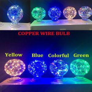 Firefly Fio de cobre da lâmpada da luz de stop de lâmpada LED decorados estrelada