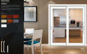 Portello scorrevole di alluminio di vetratura doppia con il vetro di Desined