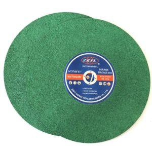 Disco abrasivo di taglio per acciaio inossidabile di colore verde