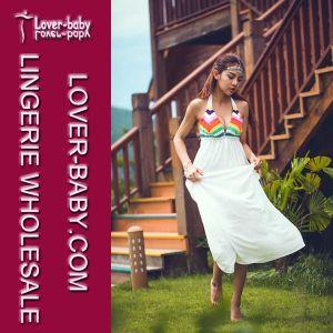 Vestido de branco meninas calções de banho (L51314)