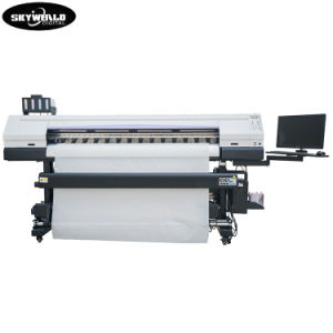 Dx5 tres cabezales de impresión la parte superior de rendimiento directamente la pantalla de título de la máquina de impresión