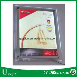 Banco de acrílico cristal de luz LED slim Box con pantalla LED