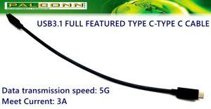 USB3.1 Gen2のフル装備のタイプC - Cケーブルをタイプしなさい