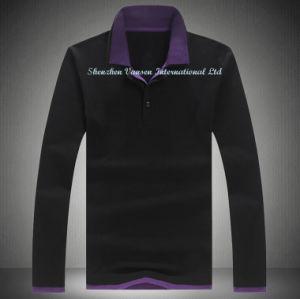 Outono Pique Polo Shirt em Black