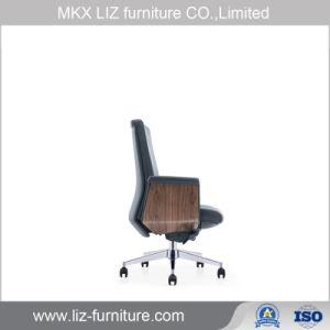 رفاهيّة تنفيذيّ جلد رئيس مكتب كرسي تثبيت مع متّكأ خشبيّة [250ا]