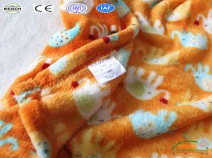 顧客は長い袖の羊毛のフランネルの赤ん坊に柔らかい布のパジャマをした