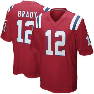 Douane Aangepaste Patriotten Jerseys 12 Tom Brady Football Jerseys