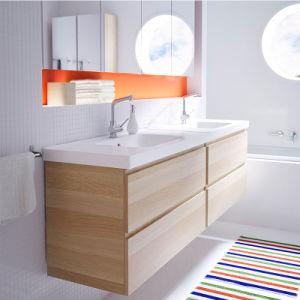 Le contreplaqué de bonne qualité Meubles de salle de bains moderne de style italien Vanités