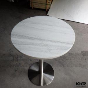 Haute brillance Anti-Scratch blanc petite table basse ronde (181114)