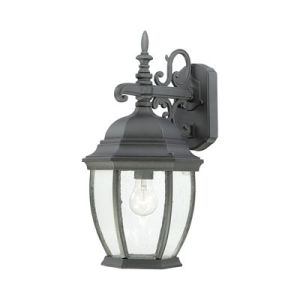 One-Light Die-Cast exterior de aluminio negro Wall Lantern ZL18096