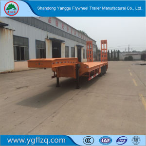 Vliegwiel 2/3/4 de Semi Aanhangwagen van de Vrachtwagen van Lowbed van de As 60t voor Vervoer van de Machines van het Graafwerktuig Op zwaar werk berekende