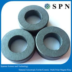 Multipolar de cerámica de los anillos de imán permanente para el Motor de imán de ferrita