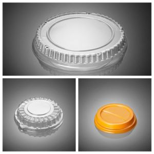 Preço direto de fábrica excelente Bolo de plástico Tampas Dome máquina de embalagem Termoformados