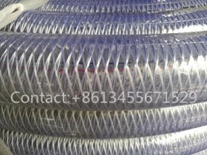 Fibra de PVC e tubo de borracha reforçado com fio de aço