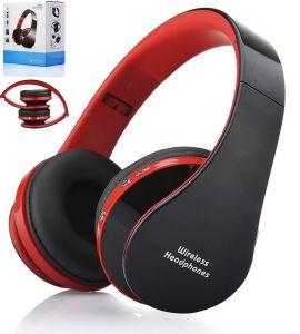 Microfono Handsfree di Bluetooth delle cuffie stereo senza fili pieghevoli  della cuffia avricolare per i telefoni astuti iPhone di Samsung 55846ebdf271