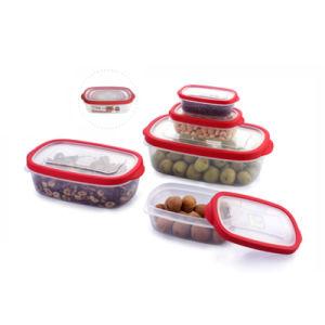 Contenedor de almacenamiento de alimentos hermético Contenedor de plástico con tapa