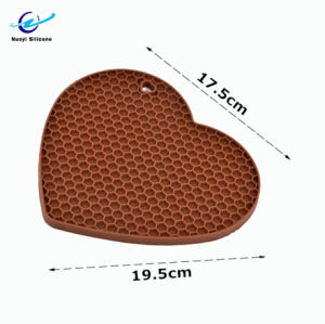 Coração Honeycomb Placemat de Silicone personalizado para jantar