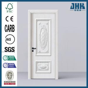 Interior em madeira maciça porta único moderno designs de teca (Plástico JHK-W002)