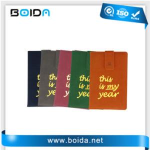 Promoção imprimindo colorido Customed Luxo PU reciclado Notebook de couro (NB11101)