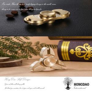 Hongdao Metal Alumínio do Rotor Esquerdo Estilo Torqbar Fidget Spinner Toy_D