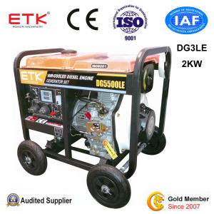 Generatore diesel del singolo cilindro raffreddato ad aria (3KW)