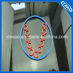 La junta tórica de goma azul