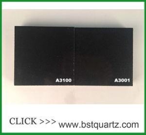 純粋で黒い設計された水晶石の平板