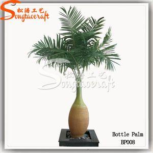 Venda a quente Decoração vaso de planta artificial de Palmeira