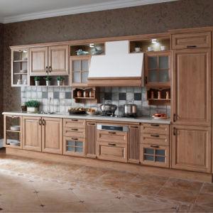 Armario de Cocina modernos de madera muebles (OP13-301)