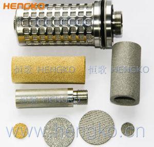 0.5 1 20 30 - 100 micron hanno sinterizzato le cartucce di filtro porose dall'acciaio inossidabile