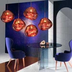 Colgante de vidrio moderna lámpara de araña de luces lámpara colgante con 1 luces_accesorio montaje empotrado, acabado dorado