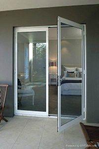 El exterior de aluminio de alta calidad buen precio de la puerta de entrada con doble puerta