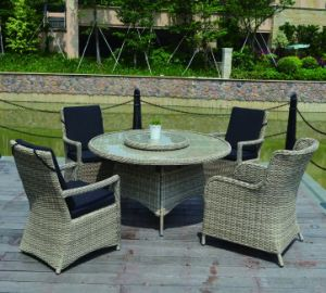 Patio Hotel caliente al aire libre jardín moderna oficina en casa el mimbre Rattan Silla de Comedor (J5881)