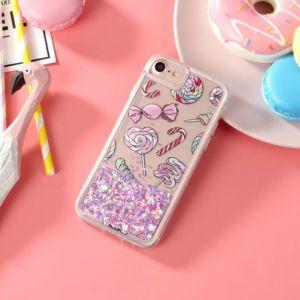 Design Flamingo quentes areias movediças líquido Casos de telefone personalizada para iPhone x