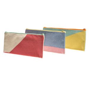 Sac à fermeture éclair en nylon sac cosmétique avec la toile de l'USINE REMISE Sacs cosmétiques