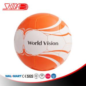 Fútbol anaranjado material del color del PVC de la promoción