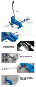 수동 격판덮개 강철 규칙 절단기는 를 위한 제작자를 정지한다
