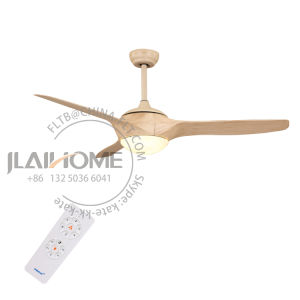 Venta al por mayor peso de la luz de 52 pulgadas LED decorativas Ventilador de techo