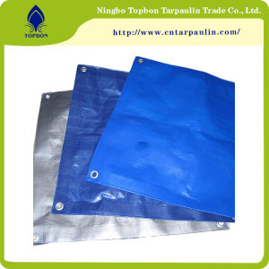 tela incatramata blu della pianura 150GSM o del PE di stile di circolazione