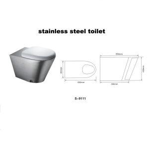 Edelstahl-Toilette