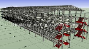 Estructura de acero prefabricada edificio dormitorio