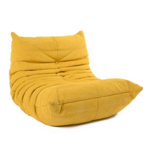 Sala de estar Sofá tapizado con pliegues de tejido sumamente elástico suave espuma de la biblioteca de confortable cama