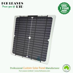 Module de panneau solaire époxy 12 W 18 V avec vis aluminium argent Verso